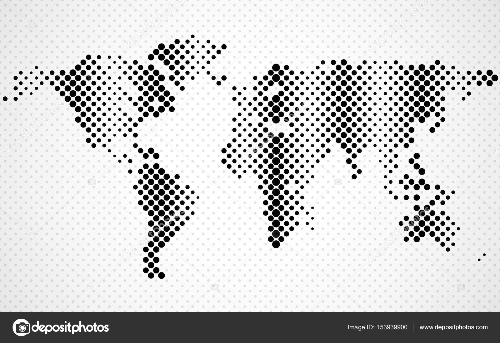Abstract halftone world map dotted map vector stock vector abstract halftone world map dotted map vector stock vector gumiabroncs Gallery