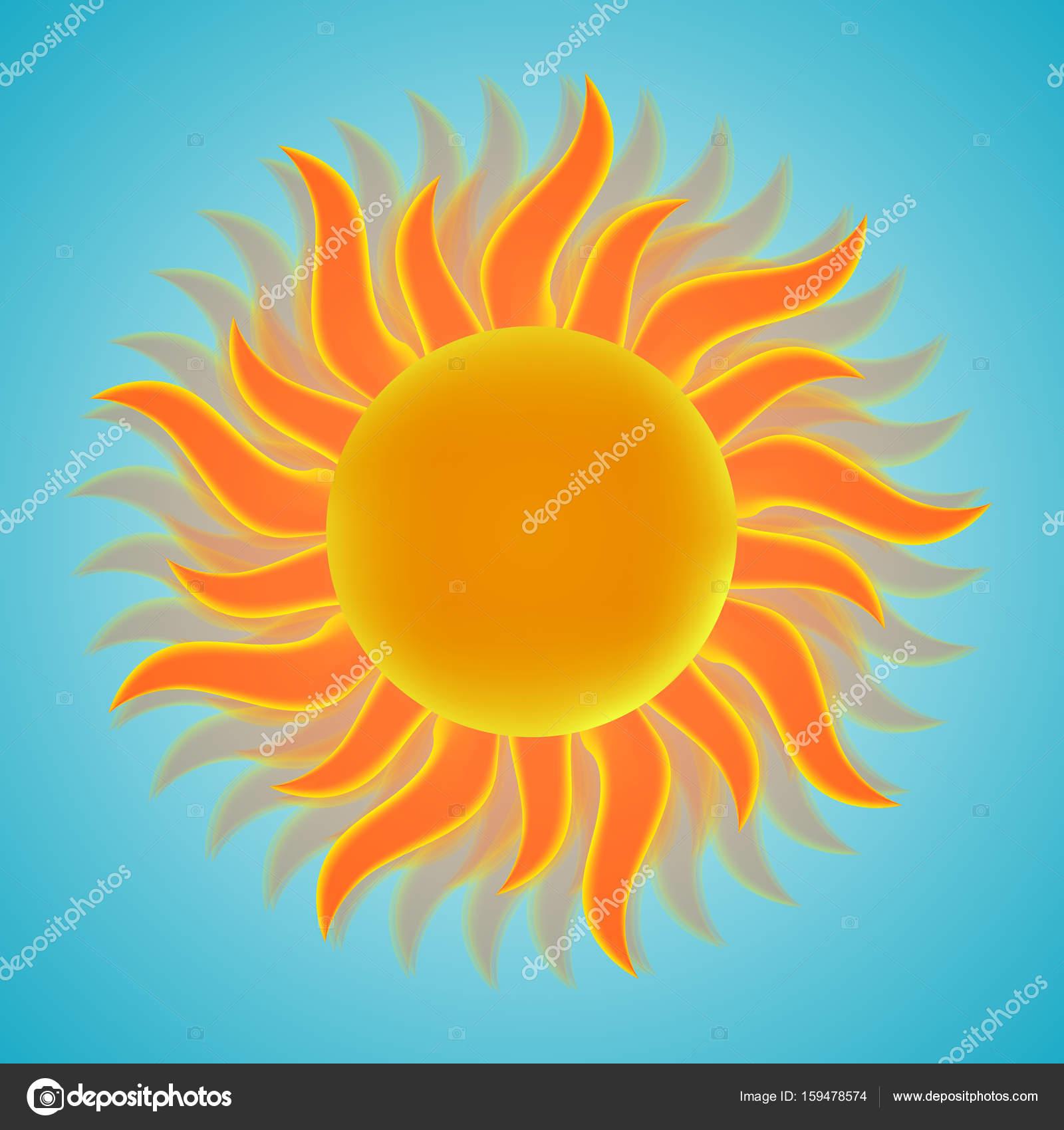 e2fa506846 Κυρ εικονίδιο με τον ήλιο. Σύμβολο του ήλιου. Εικονογράφηση διάνυσμα. EPS  10– εικονογράφηση αρχείου