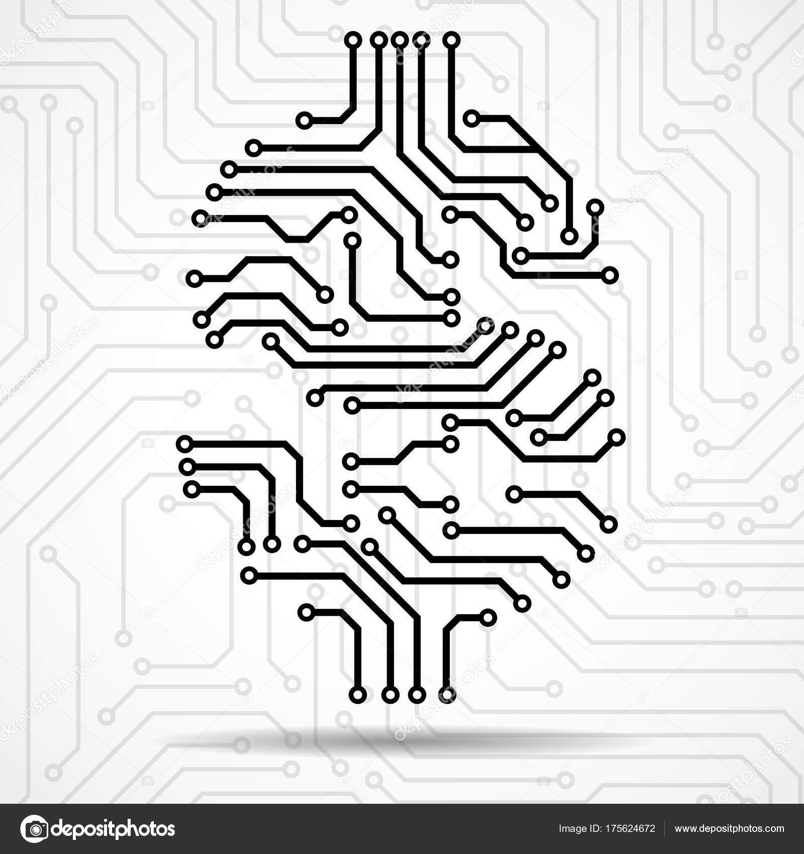 Abstract symbol dollar of circuit board. Vector — Stock Vector ...