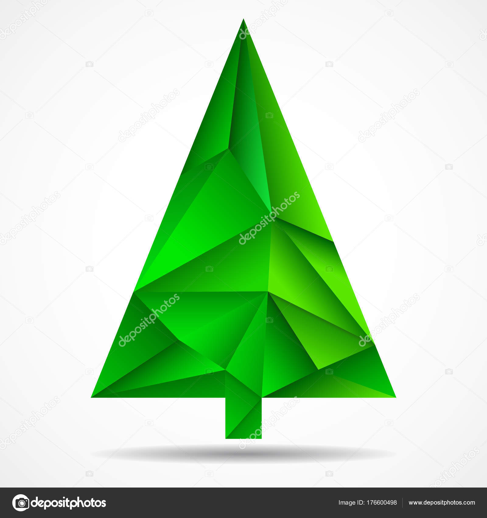 Abstract colorful christmas tree from triangles. Geometric style ...
