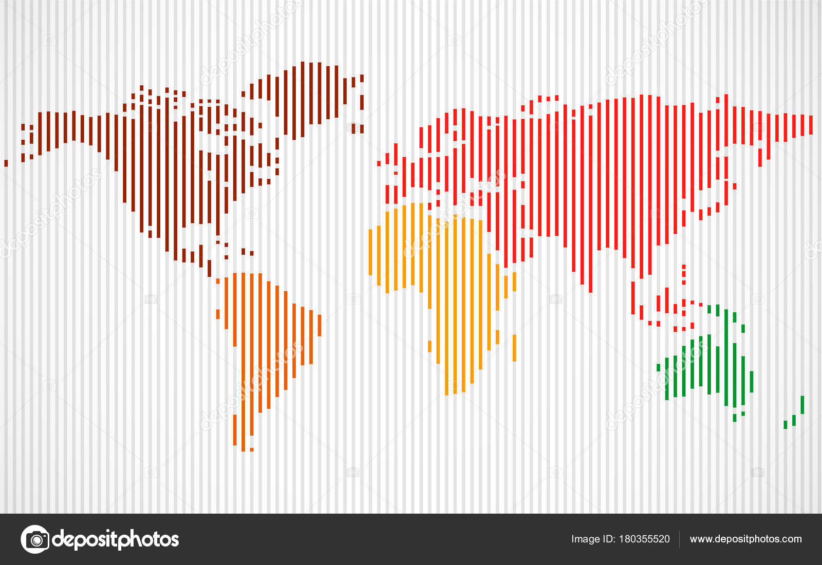 Abstract colorful world map with lines world stripes map vector abstract colorful world map with lines world stripes map vector stock vector gumiabroncs Image collections