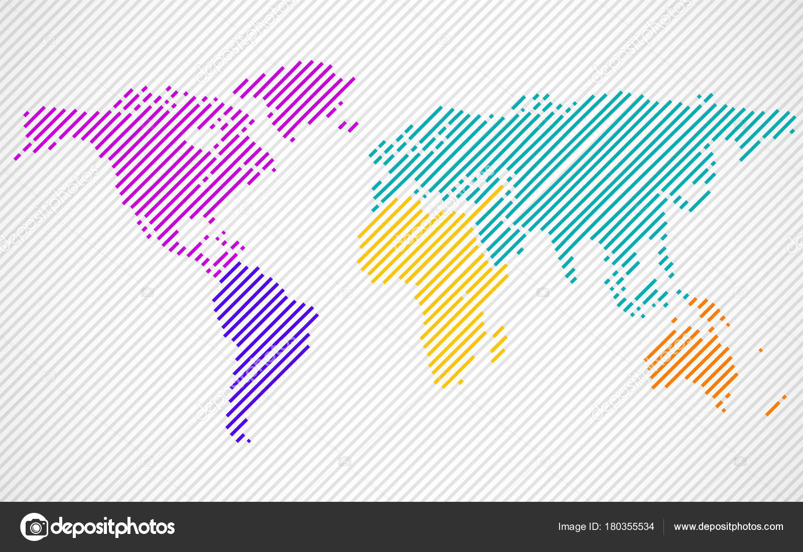 Abstract colorful world map with lines world stripes map vector abstract colorful world map with lines world stripes map vector stock vector gumiabroncs Images