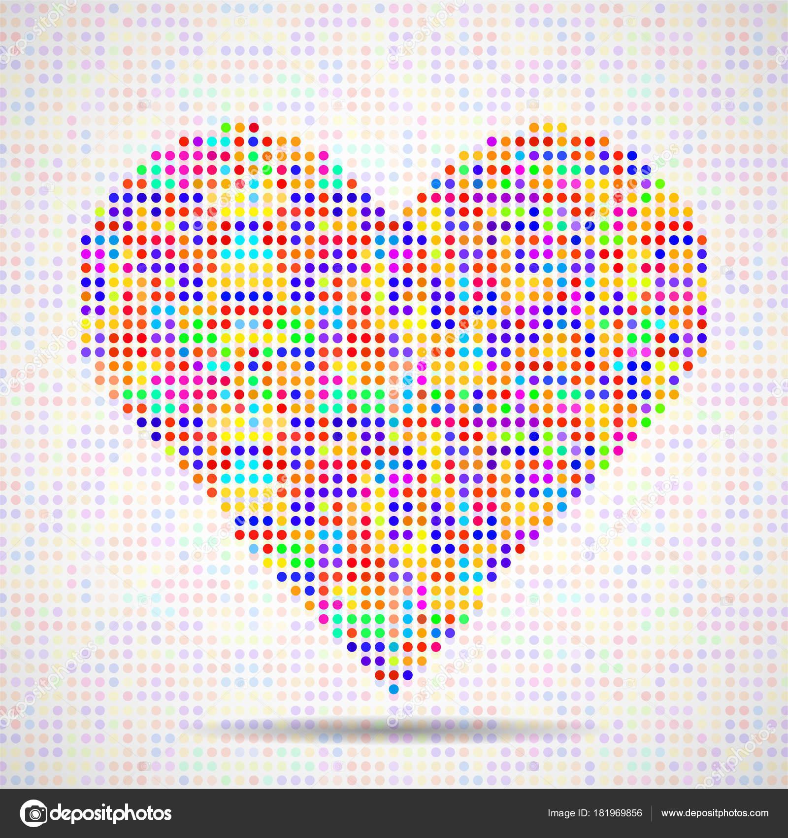 Résumé Coeur De Pixels Mosaïque Valentin Image