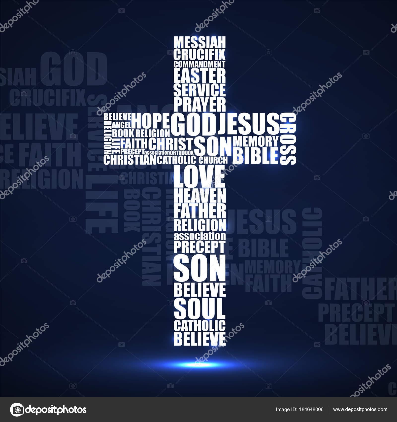 Cruz abstrata de palavras religiosas christian symbol vector cruz abstrata de palavras religiosas christian symbol vector vetores de stock fandeluxe Image collections