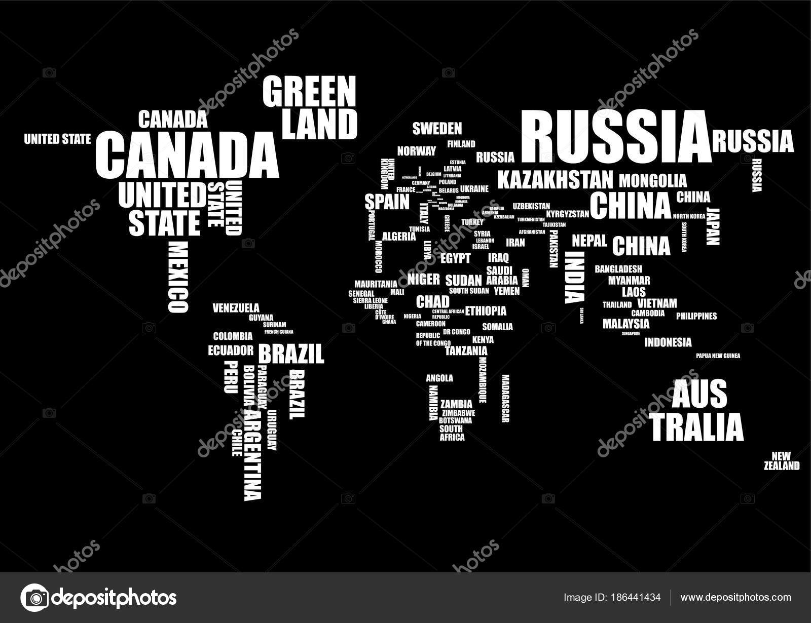 Typography world map with country names vector stock vector typography world map with country names vector stock vector gumiabroncs Image collections