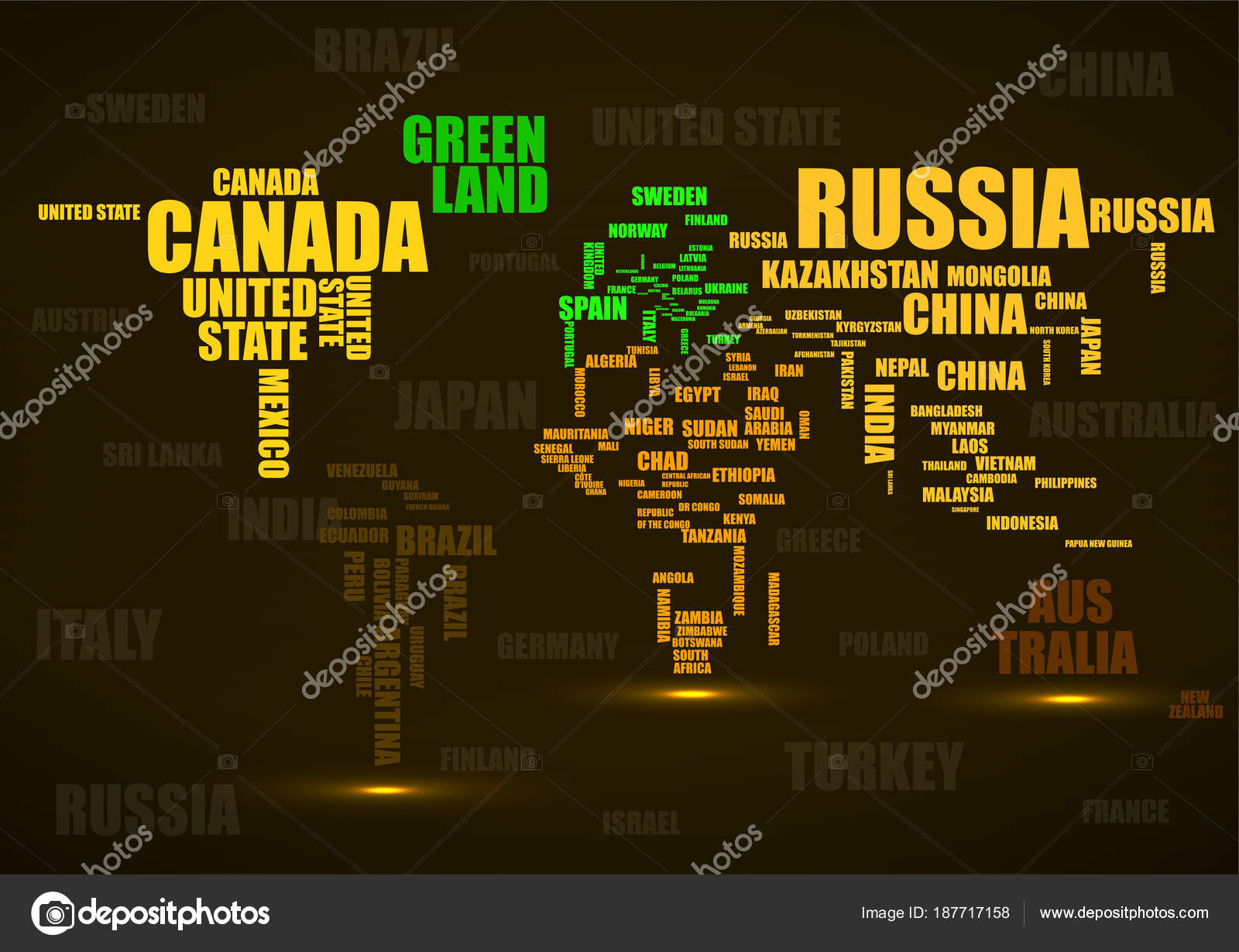 Typography colorful world map made of names countries vector typography colorful world map made of names countries vector stock vector gumiabroncs Images
