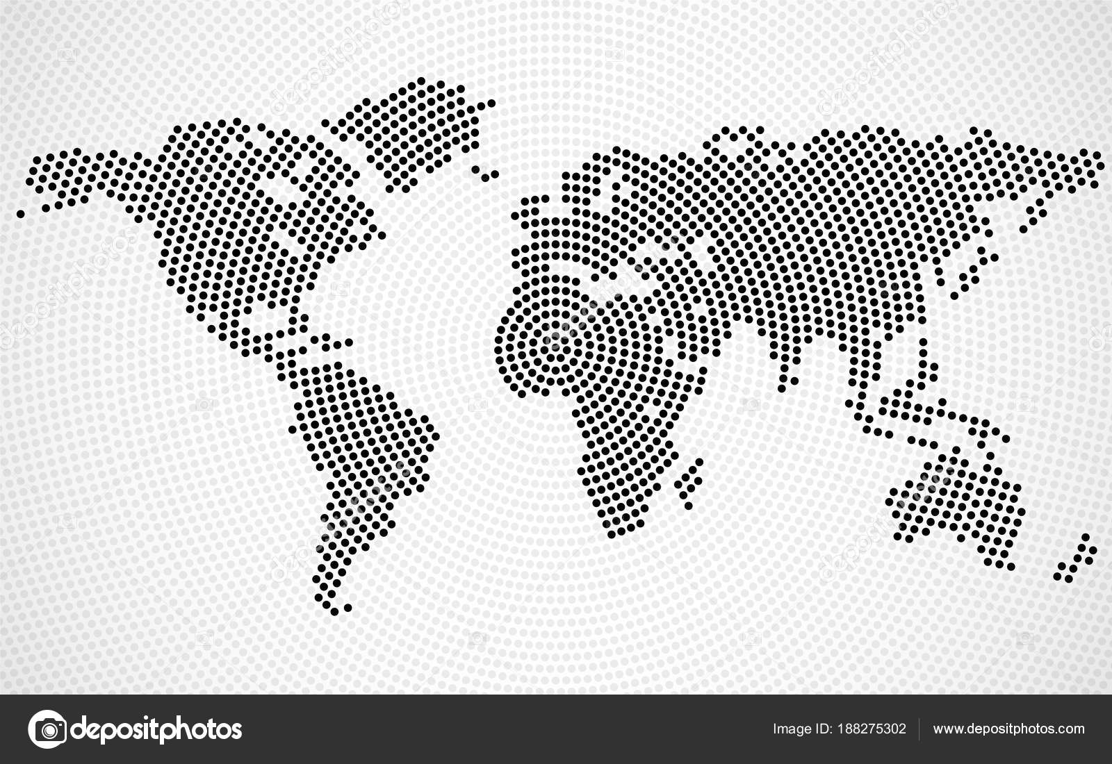 Abstract world map of radial dots vector stock vector abstract world map of radial dots vector stock vector gumiabroncs Images
