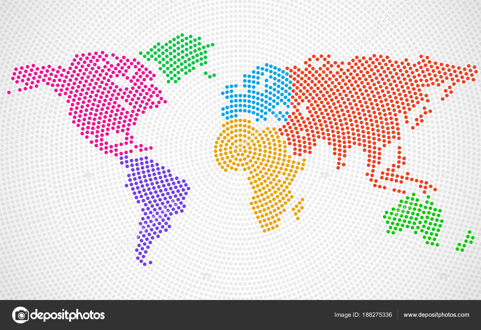 Abstract colorful world map of radial dots vector stock vector abstract colorful world map of radial dots vector stock vector gumiabroncs Choice Image