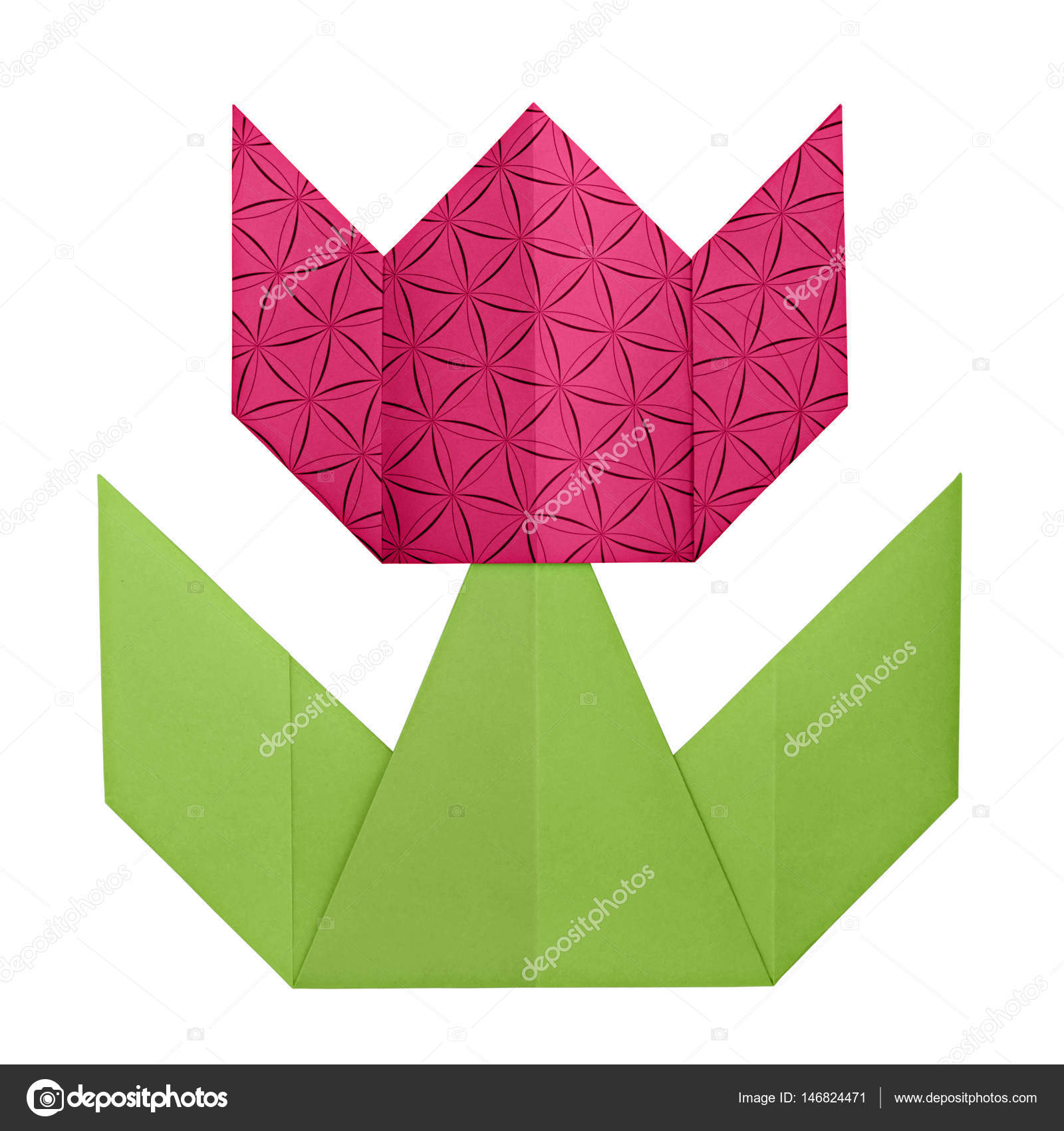 Origami tulip flower craft - Make stunning paper flowers ... | 1700x1600