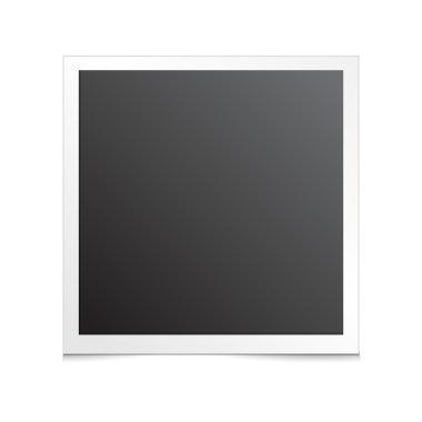 white photo frame illustration set