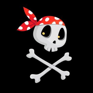 pirate scull illustration