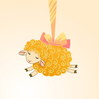 yellow sheep illustration.