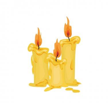 Halloween candles illustration