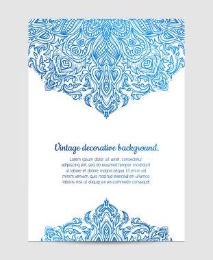 Beautiful blue Mandala
