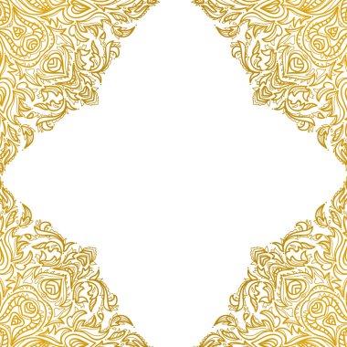 Beautiful golden Mandala