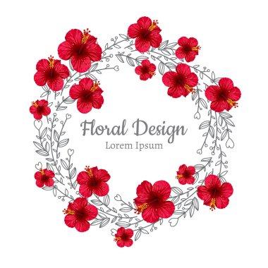 beautiful hibiscus flower wreath