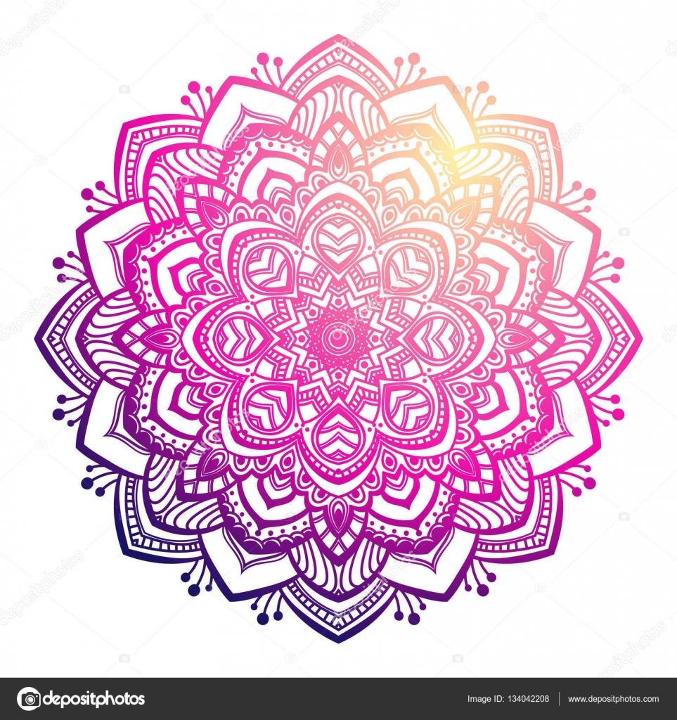 Colorful Mandala Ornament Stock Vector C Irska No 134042208