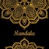Ornament zlatý mandaly