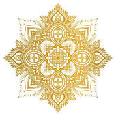 Photo Golden Mandala ornament