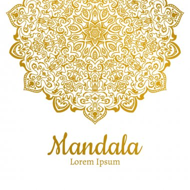 Golden Mandala ornament