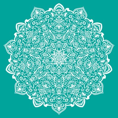 Mandala blue ornament