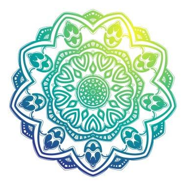 Mandala colorful ornament