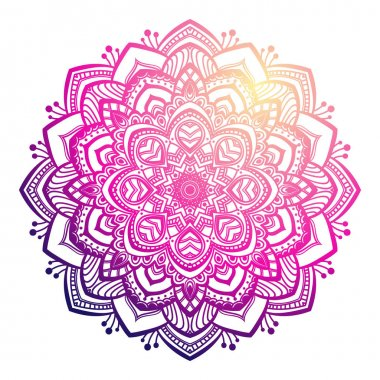 Colorful Mandala ornament
