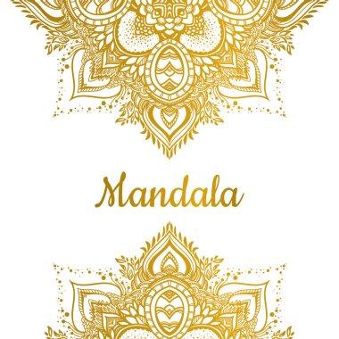 Golden Mandala ornament