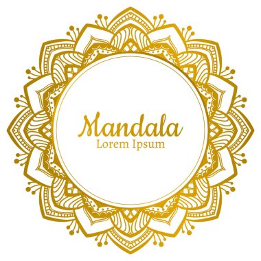 golden Mandala logo template
