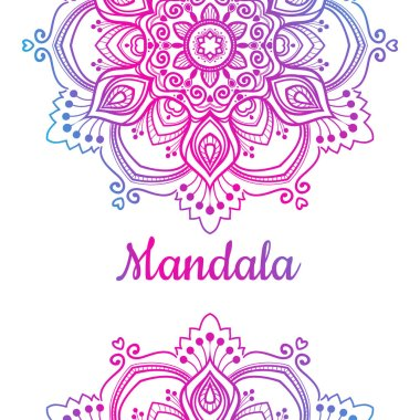 multicolored Mandala ornament