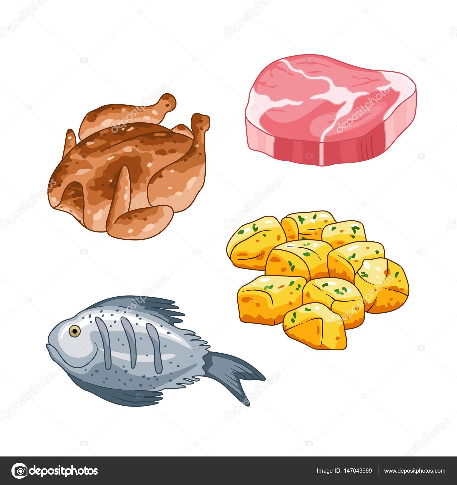 Alimentos Constructores Animados Vector Alimentos Y Comida En