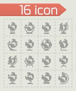 Vector Globe icon set