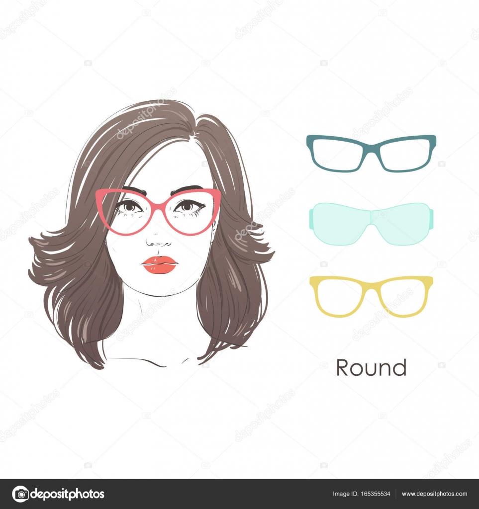 Vektor Set Schöne Frauen Porträt Mit Verschiedenen Frisuren Und Form