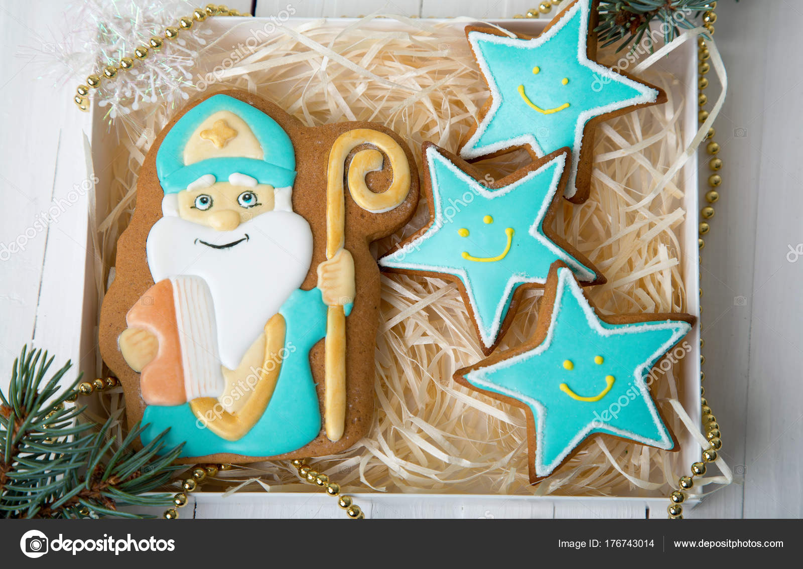 Cookie Nicholas Christmas Trees Cookies Spiced Shortcrust Biscuit