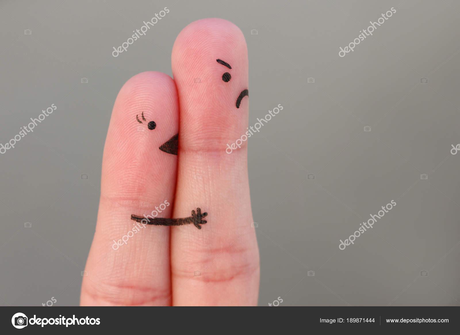 Imágenes Con Dedos De Amor Arte Dedo Pareja Mujer Besa Hombre