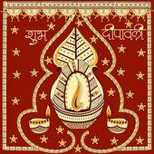 Světelný festival Indie šťastný Diwali oslavou zázemí