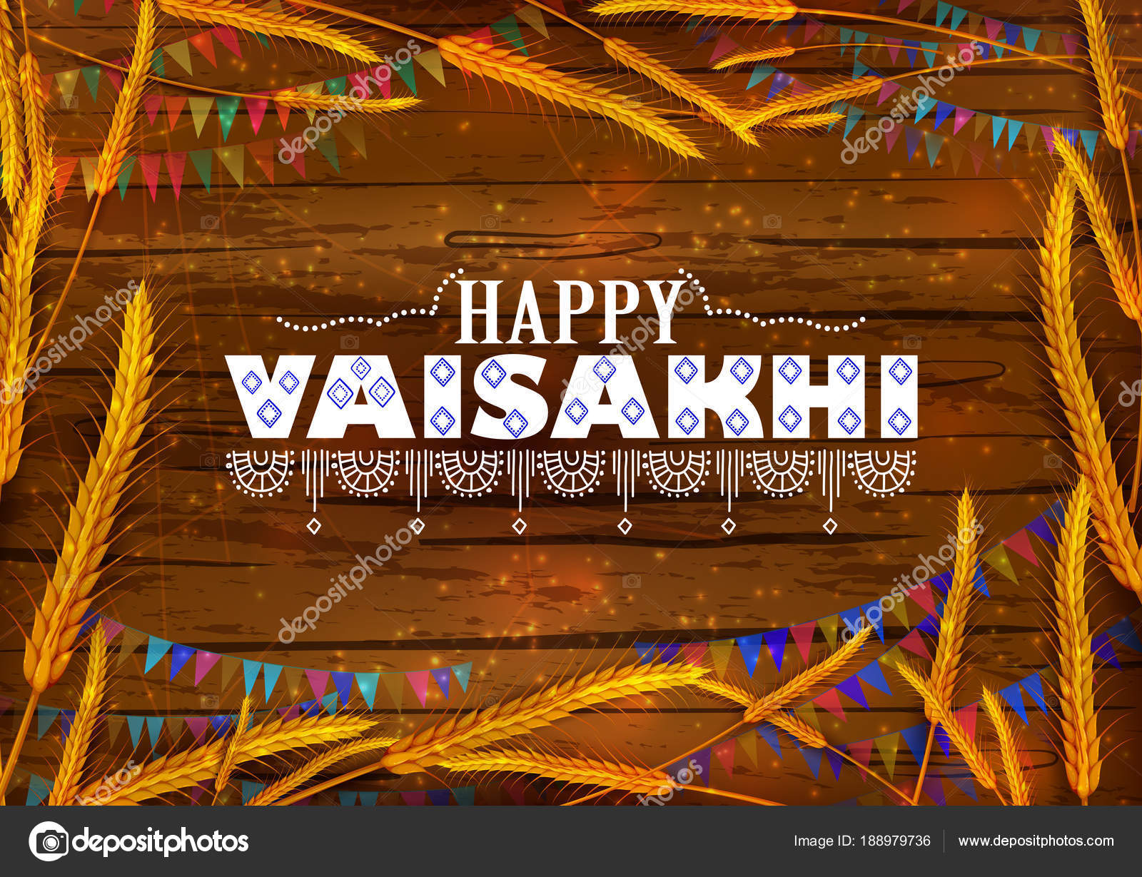 happy vaisakhi punjabi religious holiday background for new year festival of punjab india stock vector