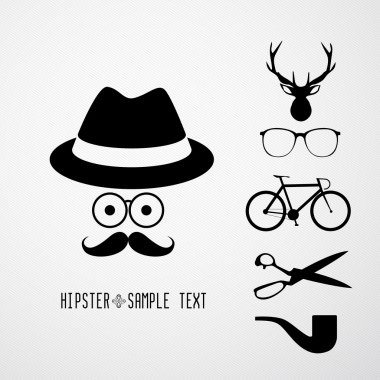 Hipster faces - Illustration