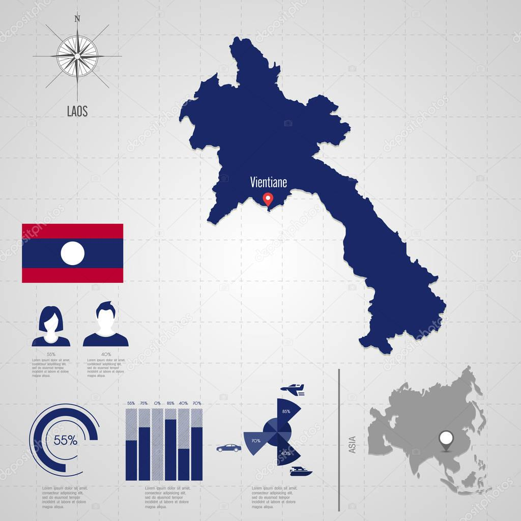 Carte Du Monde Laos.Carte Du Monde Au Laos Vecteur Voyage Illustration Image