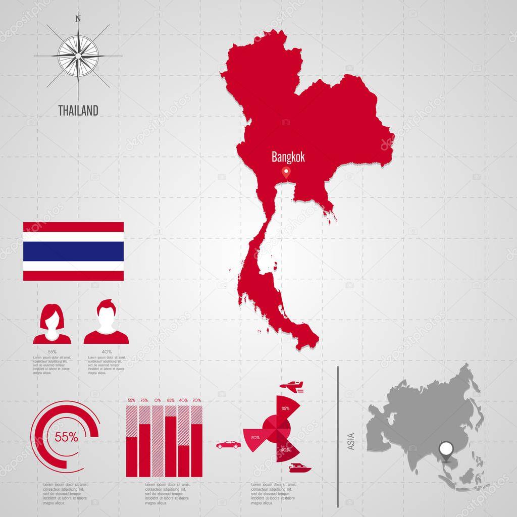 Thailand world map travel vector illustration stock vector thailand world map travel vector illustration stock vector gumiabroncs Images