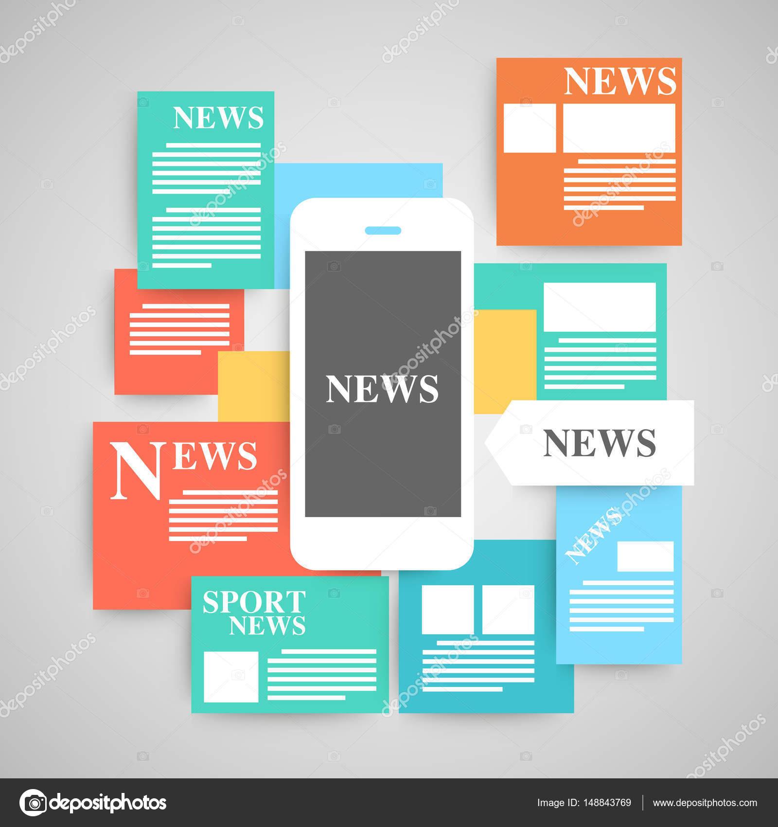 Conjunto de vector de periódico — Vector de stock © suriya9 #148843769