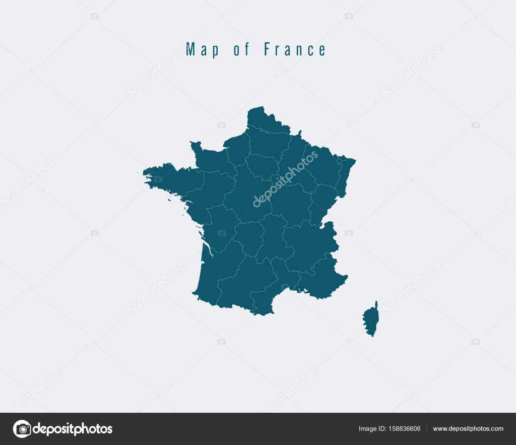 Map Of France With States.Modern Map France With Federal States Stock Vector C Suriya9