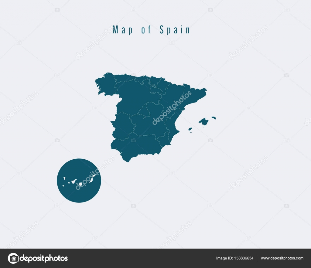 Modern Map Spain With Federal States Stock Vector C Suriya9