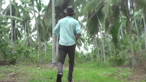 Ten chlap žije v džungli, život v džungli, palmy, přírodní úkaz, déšť, tropy, tropický déšť