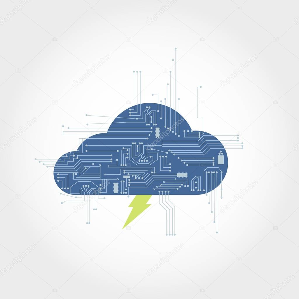 Electronics circuit and cloud