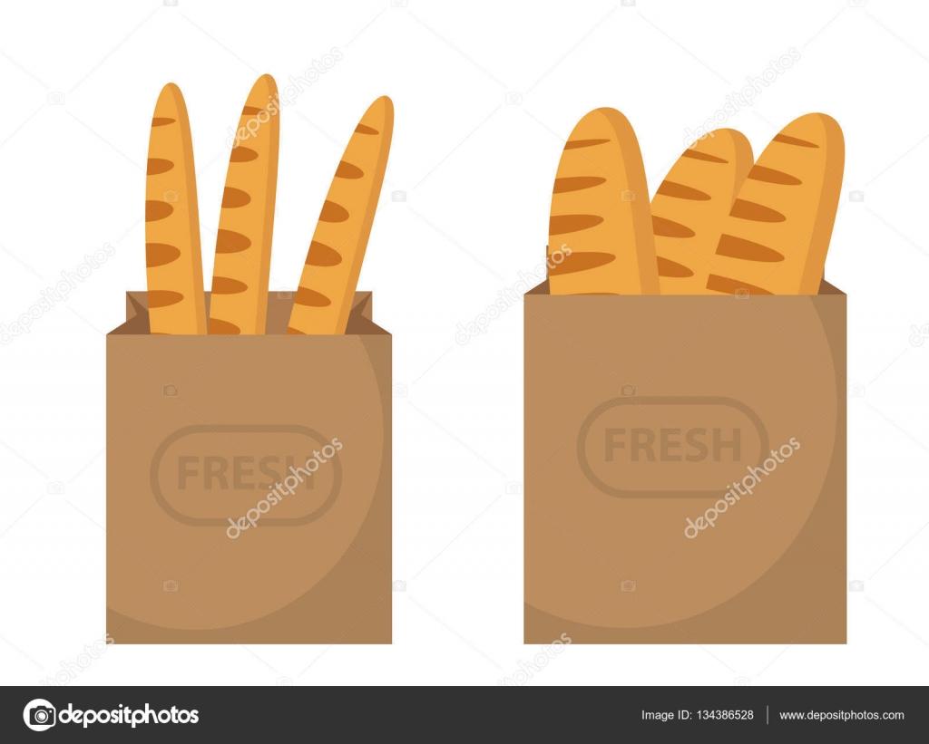 De Papieren Zak : Brood in een papieren zak brood stokbrood in de papieren