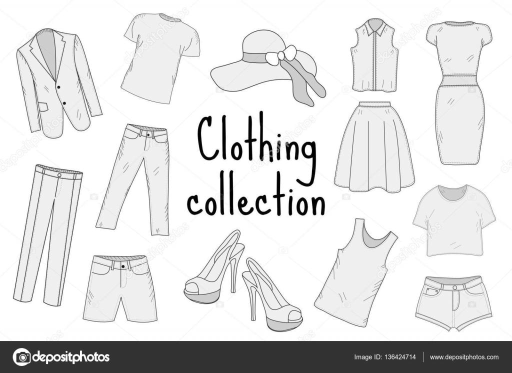 Colorear Dibujo Pantalón En Línea: Dibujos Para Colorear De Ropa Ingles Prendas Ropa 6