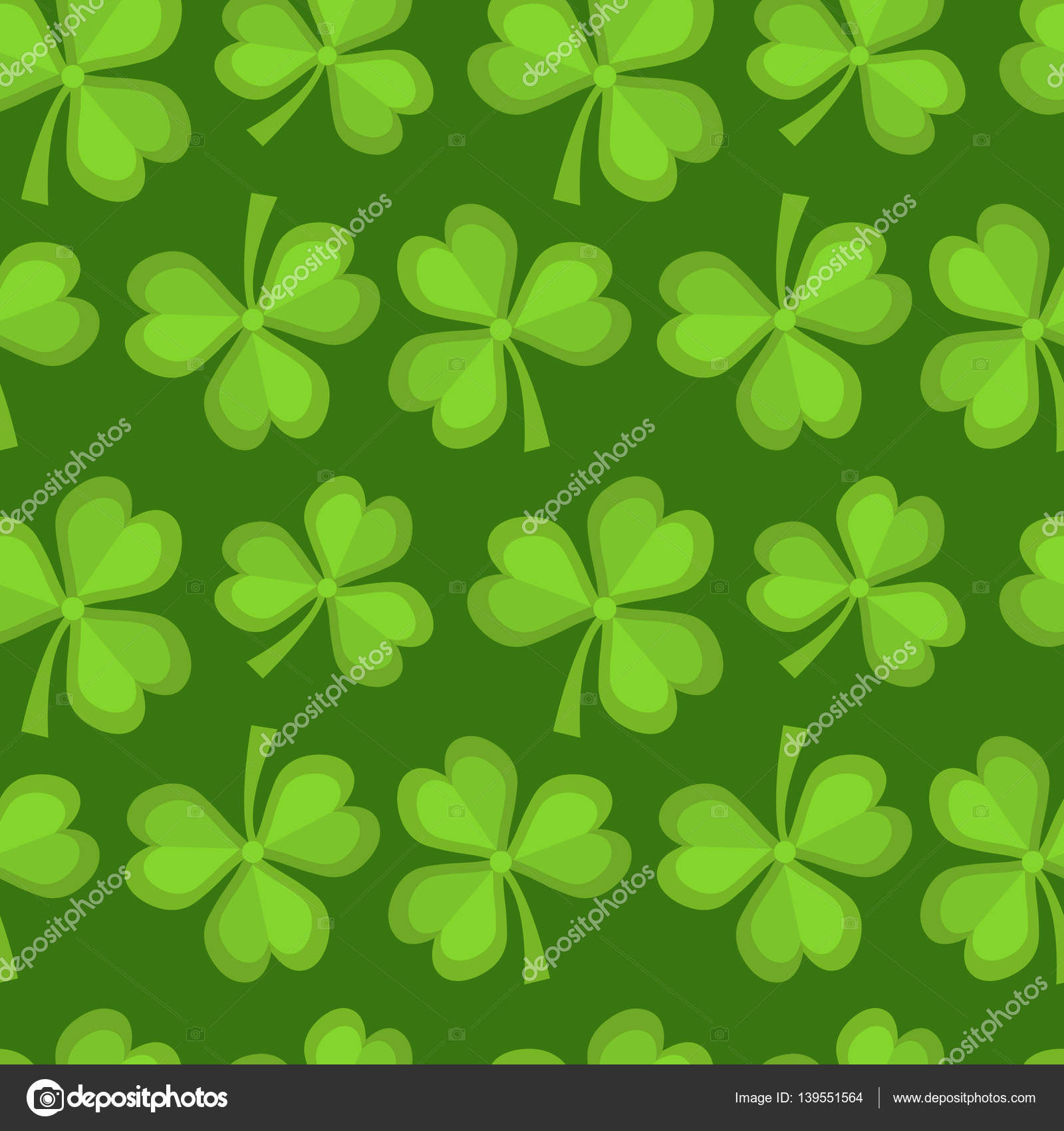 Clover Seamless Pattern St Patricks Day Endless Repeated