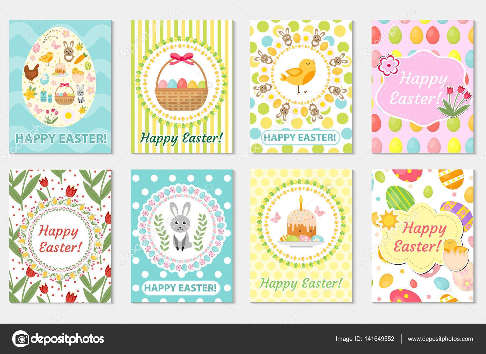 Feliz Páscoa Acolhimento Coleção De Cartão Panfleto Cartaz