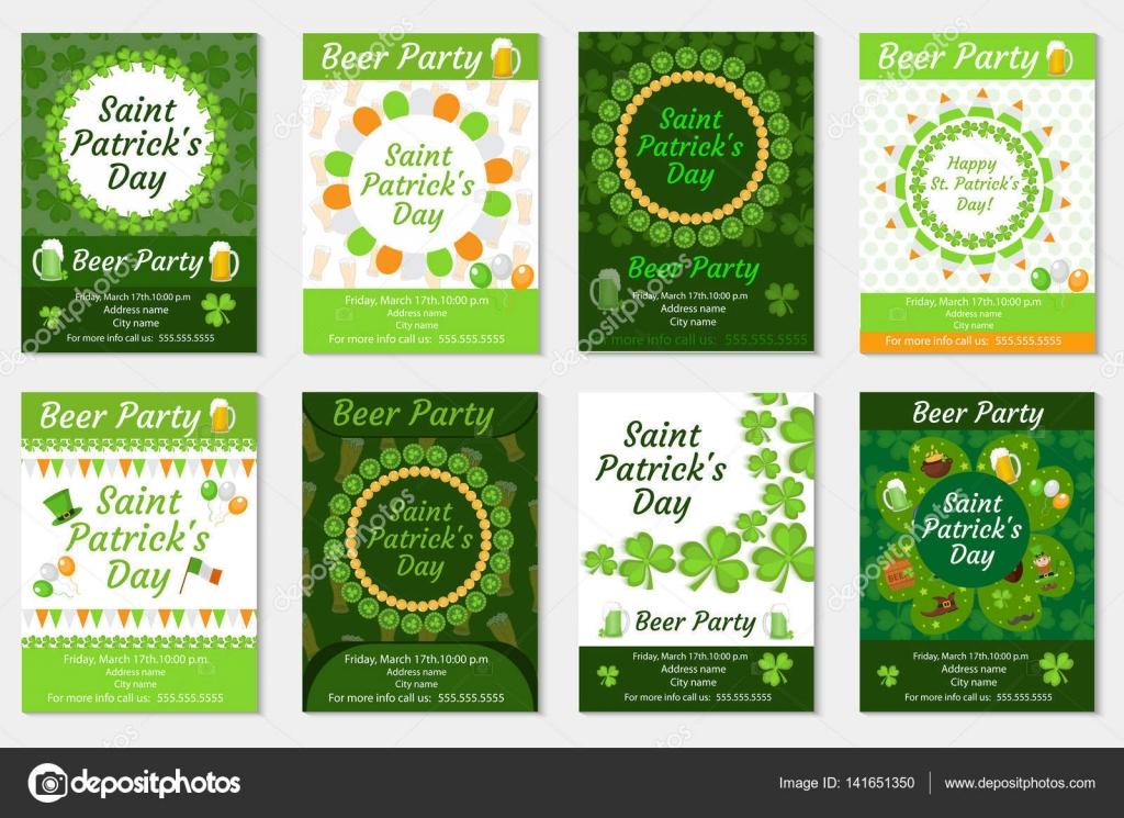 von st. patricks day einladung, poster, flyer. bier party legen, Kreative einladungen
